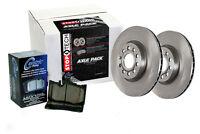 Rear Brake Rotors + Pads For 2003-2005 Chevrolet Suburban 2500 [quadrasteer]