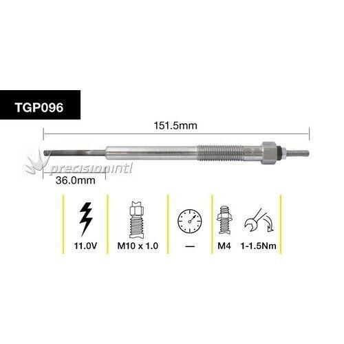 Tridon TGP096 CLEARANCE ITEM TRIDON GLOW PLUG 151.5MM LONG 11V