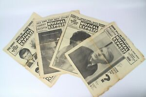 4x-VINTAGE-NME-New-Musical-Express-Magazines-1961
