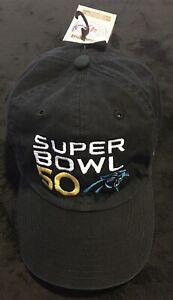 17734fa3 Details about 47 Brand Super Bowl 50 Carolina Panthers Hat Black NFL One  Size Fit All
