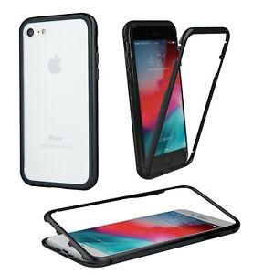 Metal-Aluminium-Glas-Magnetic-Handyhuelle-Tasche-Case-Fuer-Apple-iPhone-X-Schwarz