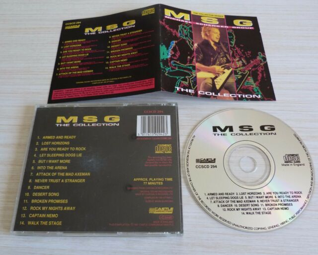 RARE CD ALBUM THE COLLECTION - MSG MICHAEL SCHENKER GROUP 14 TITRES 1991 BEST OF