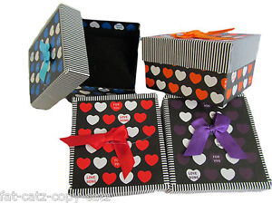 HEART-amp-STRIPED-LID-DESIGN-JEWELLERY-WATCH-BRACELET-BOW-GIFT-BOXES-PADDED-INSERT