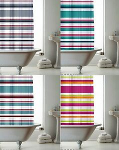 Image Is Loading Modern Bathroom Shower Curtain With Ring Hooks 6ft