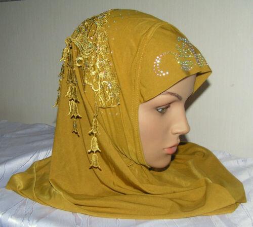 Damen Hijba Schal Amira Kopfbedeckung 108 Arabische Kopftuch Hijab Bone