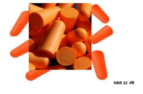PU 100 Pairs Disposable Soft Polyurethane Foam Earplugs NRR 32 dB without Cord
