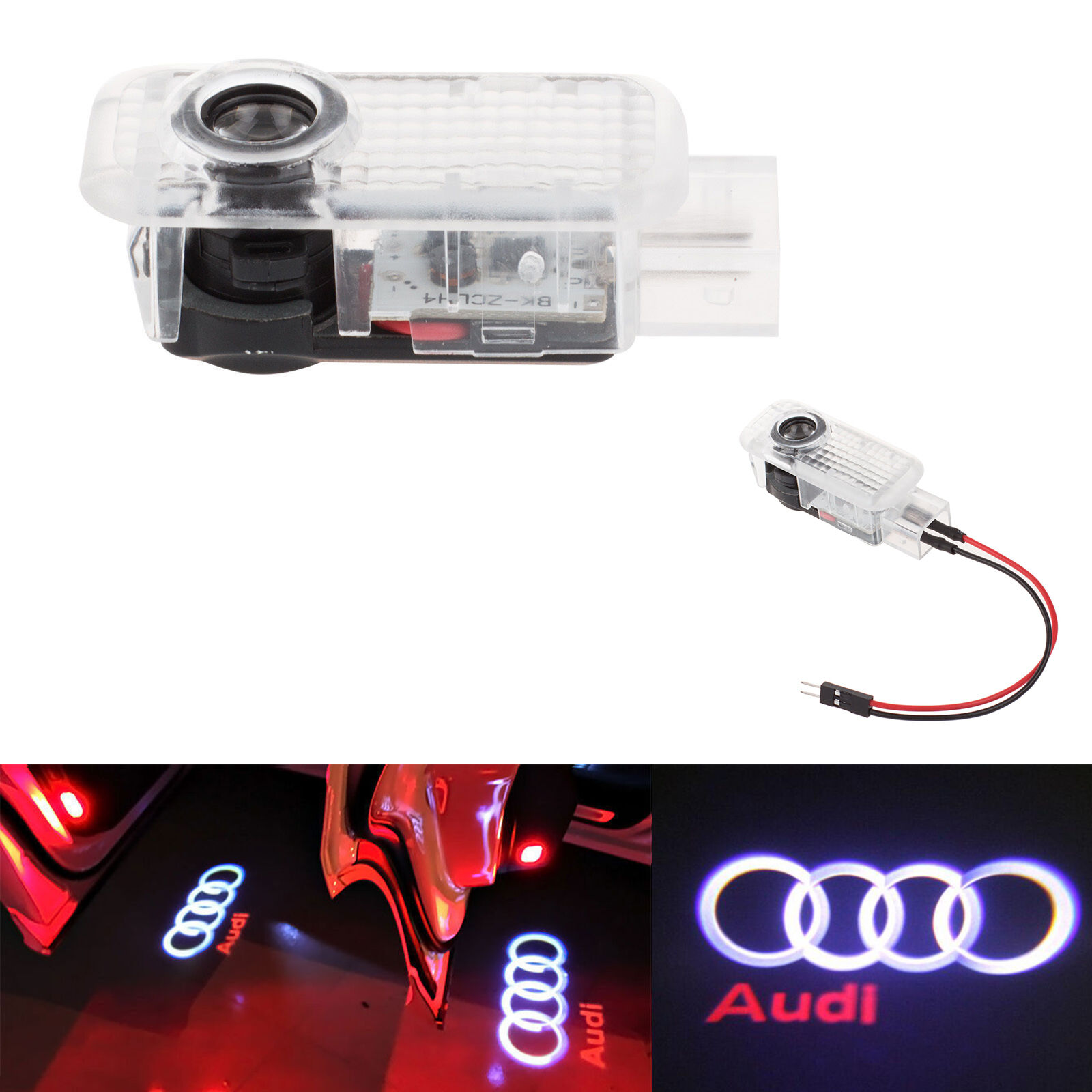 2 LED Logo 3D Shadow Light Projector Car Door Courtesy