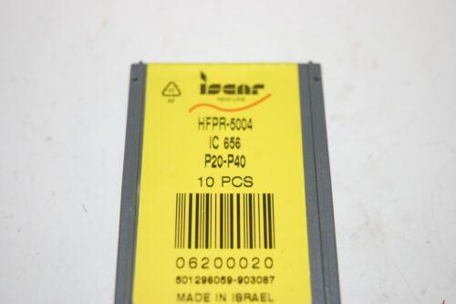 NIB Iscar HFPR-5004 IC 656 Carbide Inserts 10