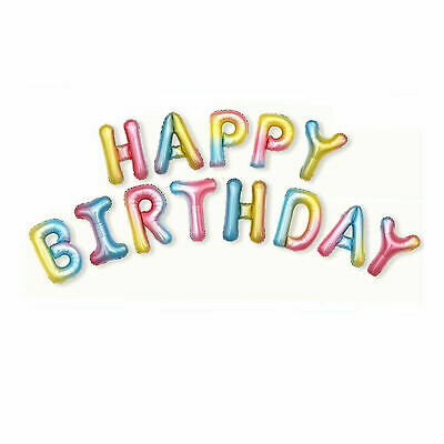 """HAPPY BIRTHDAY 16/""""inch SELF INFLATING BALLOON BANNER BUNTING PARTY LARGE BALONS"""