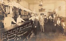 Real Photo Postcard Joe's Drinking Place Bar Saloon in Juarez, Mexico~125040