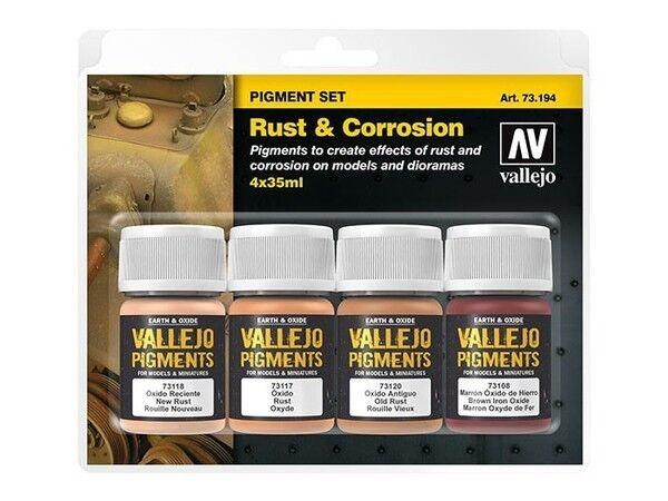 Av Vallejo - Rouille et Corrosion Pigment Set #73194