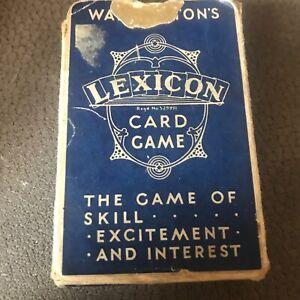 WADDINGTONS LEXICON CARD GAME - RARE BLUE BOX WAR TIME PACK