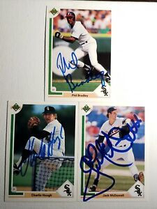 1991-Upper-Deck-White-Sox-Auto-Lot-Autograph-Card-Signed-Charlie-Hough-McDowell