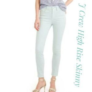 J-Crew-Womens-Lookout-High-Rise-Skinny-Crop-Ankle-Denim-Jeans-Stretch-Sz-30
