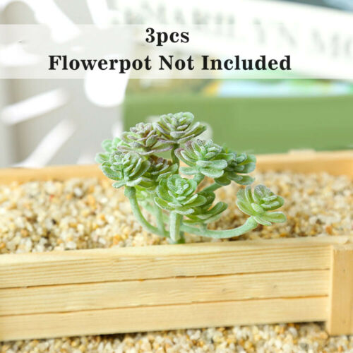 3PCS Artificial Succulent Plants Assorted Unpotted Garden Fake Flower Decor