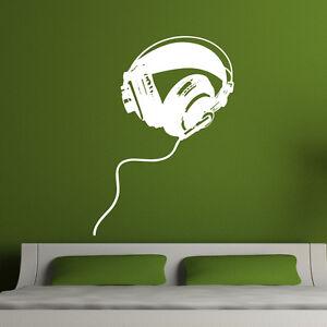 Headphones-Wall-Sticker-DJ-Music-Wall-Sticker-Vinyl-Art-Decor-w200