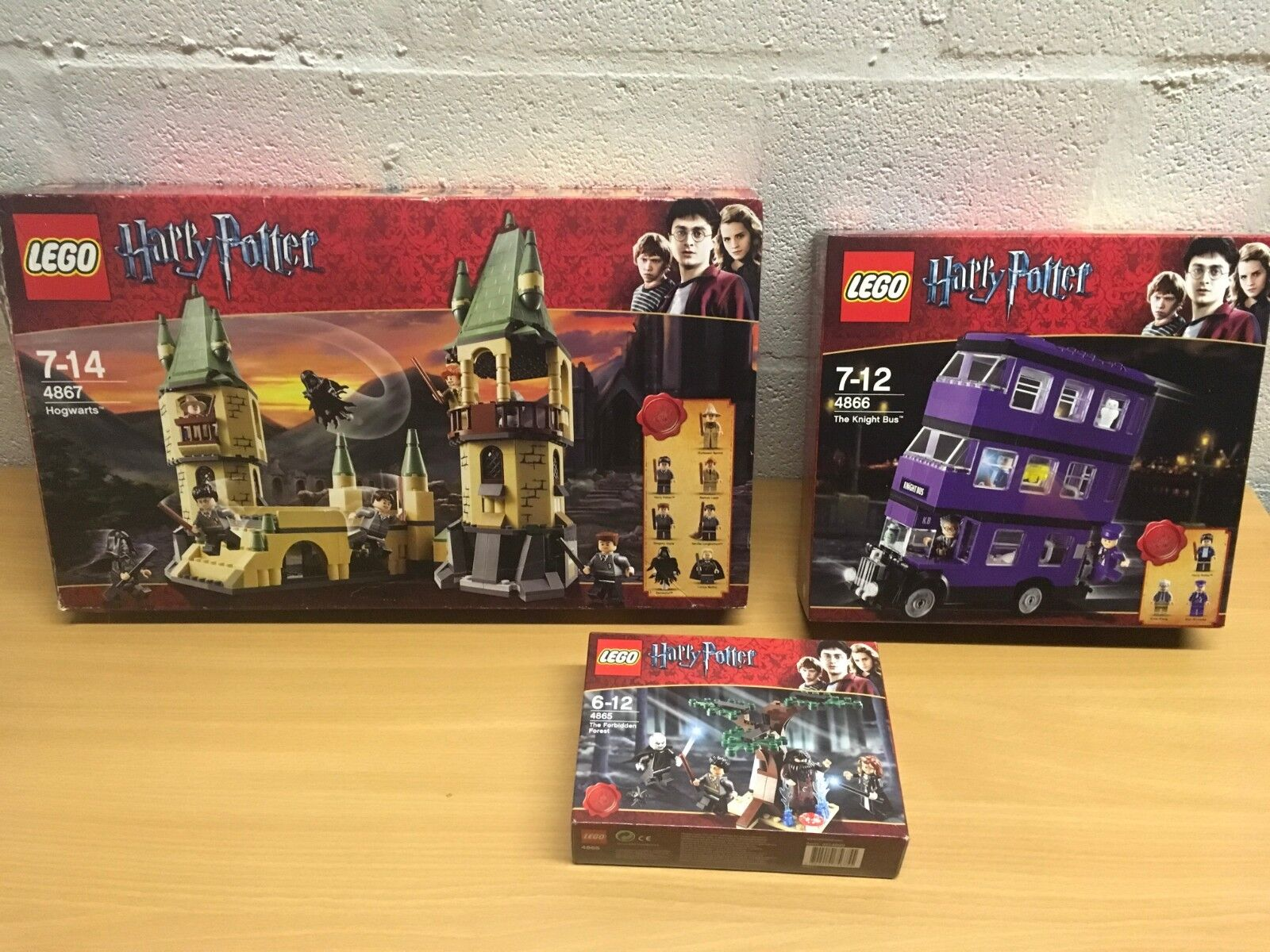 LEGO HARRY POTTER 4865 4866 4867 NEW SEALED HOGWARTS KNIGHT BUS FORBIDDEN FOREST