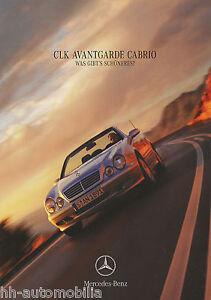Mercedes-CLK-Avantgarde-Cabriolet-Coupe-Prospekt-1999-5-99-brochure-broszura-PKW