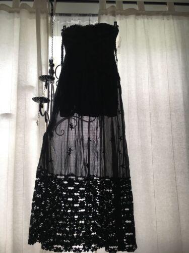 Maxi Nieuwe gown mensen prachtige S donker Lace Chiffon 4 grijs geborduurde vrije jurk wwYTrp