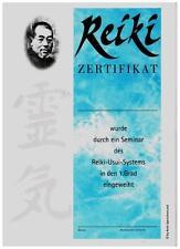 10 Reiki Zertifikate / Urkunden für den 1. Grad und kostenloser Lehrereintrag