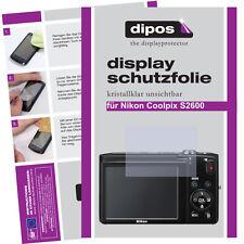 2x Nikon Coolpix S2600 Schutzfolie klar Displayschutzfolie Folie unsichtbar