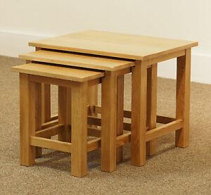 London oak nest of tables light oak lamp table solid wood image is loading london oak nest of tables light oak lamp aloadofball Images
