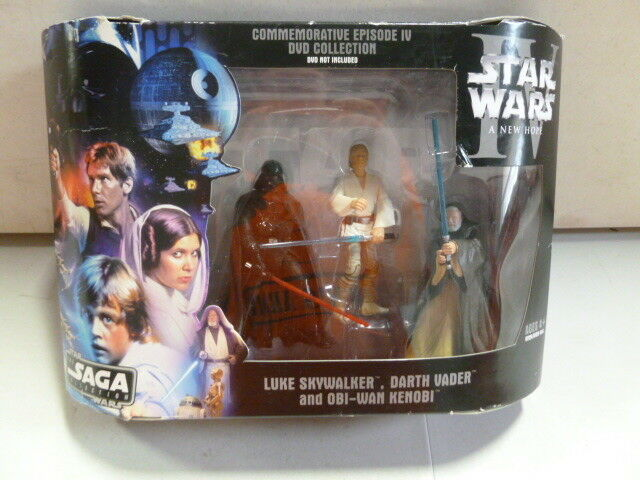 Star Wars IV A New Hope Saga Collection Skywalker, Vader, Kenobi