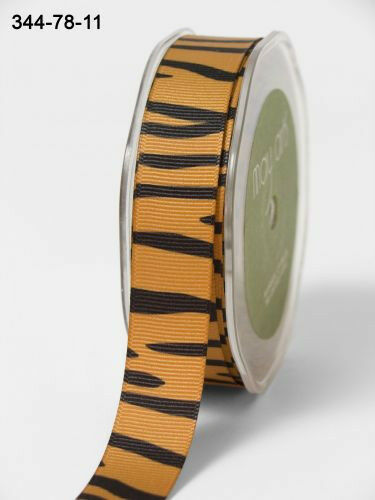 sold by the meter May Arts Ribbon Animal Print Grosgrain 22mm Ribbon