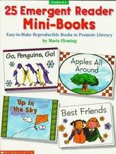 25 EMERGENT READING MINI-BOOKS TO MAKE (GRADE KINDERGARTEN, K, 1, 1ST, FIRST)