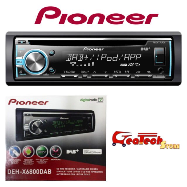 Autoradio PIONEER 4 x 50w DEH-X6800DAB Sintolettore CD RDS Radio Digitale DAB+