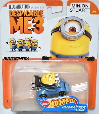 NEW➽☀DESPICABLE ME 3☀MINION DAVE 1//6☀2017 Hot Wheels☀iLLUMINATION☀Character Cars