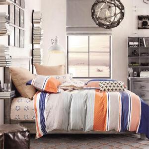 All Size Bed Quilt Duvet Cover Set 100% Cotton Super King Bedding - Moka