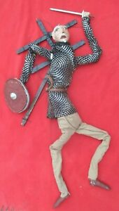 Mexican-Outside-Folk-Art-Fantastic-Large-Don-Quixote-Marionette-Puppet