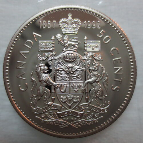 1867-1992 CANADA 50 CENTS 125th CONFEDERATION ANNIVERSARY PROOF COIN