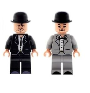 Custom Designed Minifigures - Comedy Duo Laurel and Hardy Printed On LEGO Parts