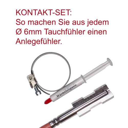 Anlegeset pour tauchfühler 6 mm avec pâte thermique et sangle prenne les Capteur