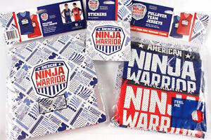 Stickers ANW apparel American Ninja Warrior Pullover Team Jerseys LOT of 4-NEW