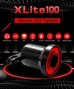 XLite100-Bicicletta-Smart-Luce-Freno-Sense-LED-USB-Coda-Posteriore-Impermeabile