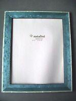 Natalini Picture Frame Handmade Blue Cream Wood Italy 8x10 Photo