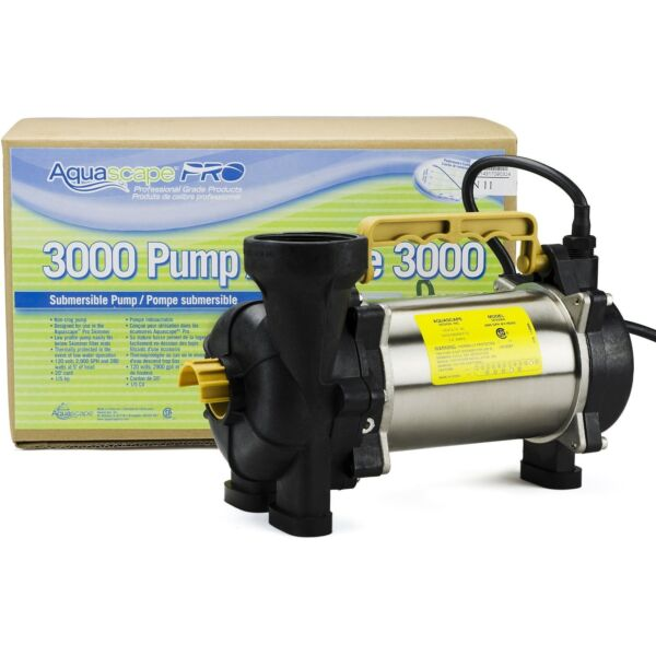 AQUASCAPE PRO 20002 3000 GPH Pond Pondless Waterfall Pump ...