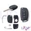 Ricambio Chiave Hyundai 3 Tasti Guscio con Lama per Telecomando Tucson Santa Fe