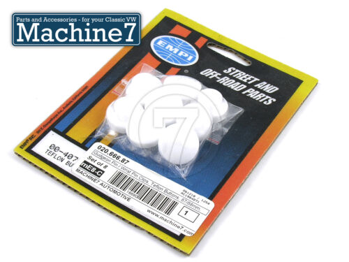 Wrist Pin Clips Classic VW Beetle Gudgeon Pin Teflon Buttons 87//88mm Set of 8
