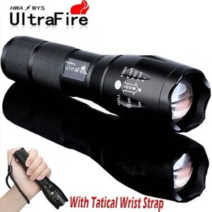 90000LM-T6-Zoomable-5-Modes-Tactical-18650-Flashlight-Focus-Torch-Light-Camping