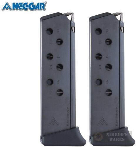 TWO Mec-Gar MGWPPKSFRB Walther PPKS PPK//S 380ACP 7 Round Magazines FAST SHIP