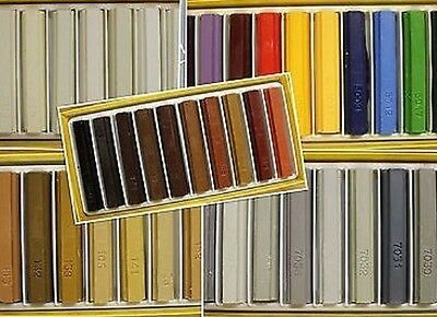Konig Furniture Repair Wax Filler Sticks 10 x Mixed RAL Colours Soft or Hard Wax