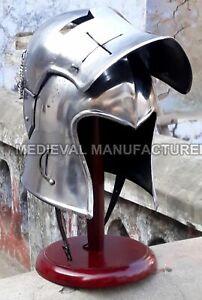 Medieval-Barbuta-Helmet-Knight-Templar-Crusader-Armour-Helmet-Halloween-Sca-Larp