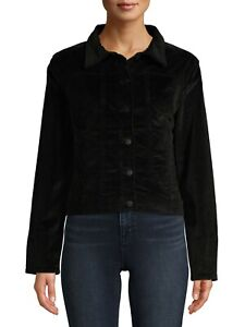 Time-and-Tru-Women-039-s-Corduroy-Jacket-Black-NEW-WITH-TAGS-Size-M-L-XL