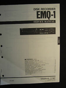 Yamaha Disk Recorder EMQ-1 Service Shop Manual Schematics Wiring Parts List  EMQ1 | eBay | Wiring Parts For Schematics |  | eBay
