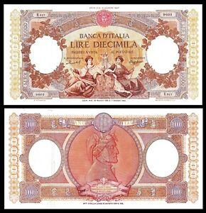 Italy-P89-10000-Lire-8-1947-XF-Banca-d-039-Italia-RARE-Banknote