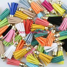 10pcs Mix Color 38mm Leather Tassel For Diy Accessoir Fiber Fringe Suede Tassel